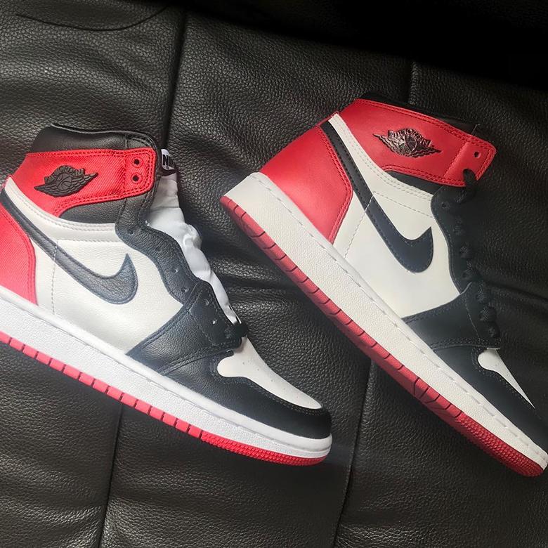 Air Jordan 1 Satin Black Toe Women's