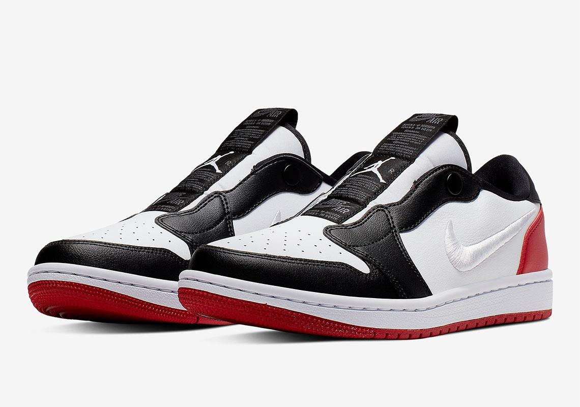 """The Air Jordan 1 Low Slip Appears In Classic """"Black Toe"""" Colorway"""