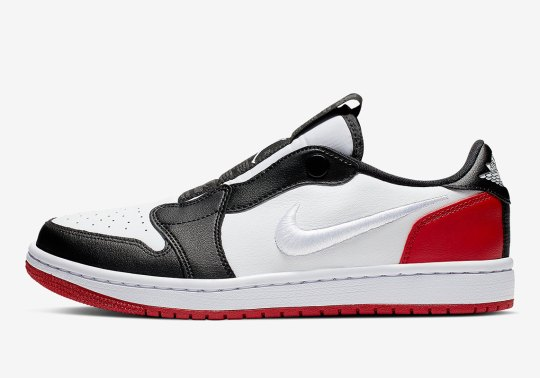 "The Air Jordan 1 Low Slip Appears In Classic ""Black Toe"" Colorway"