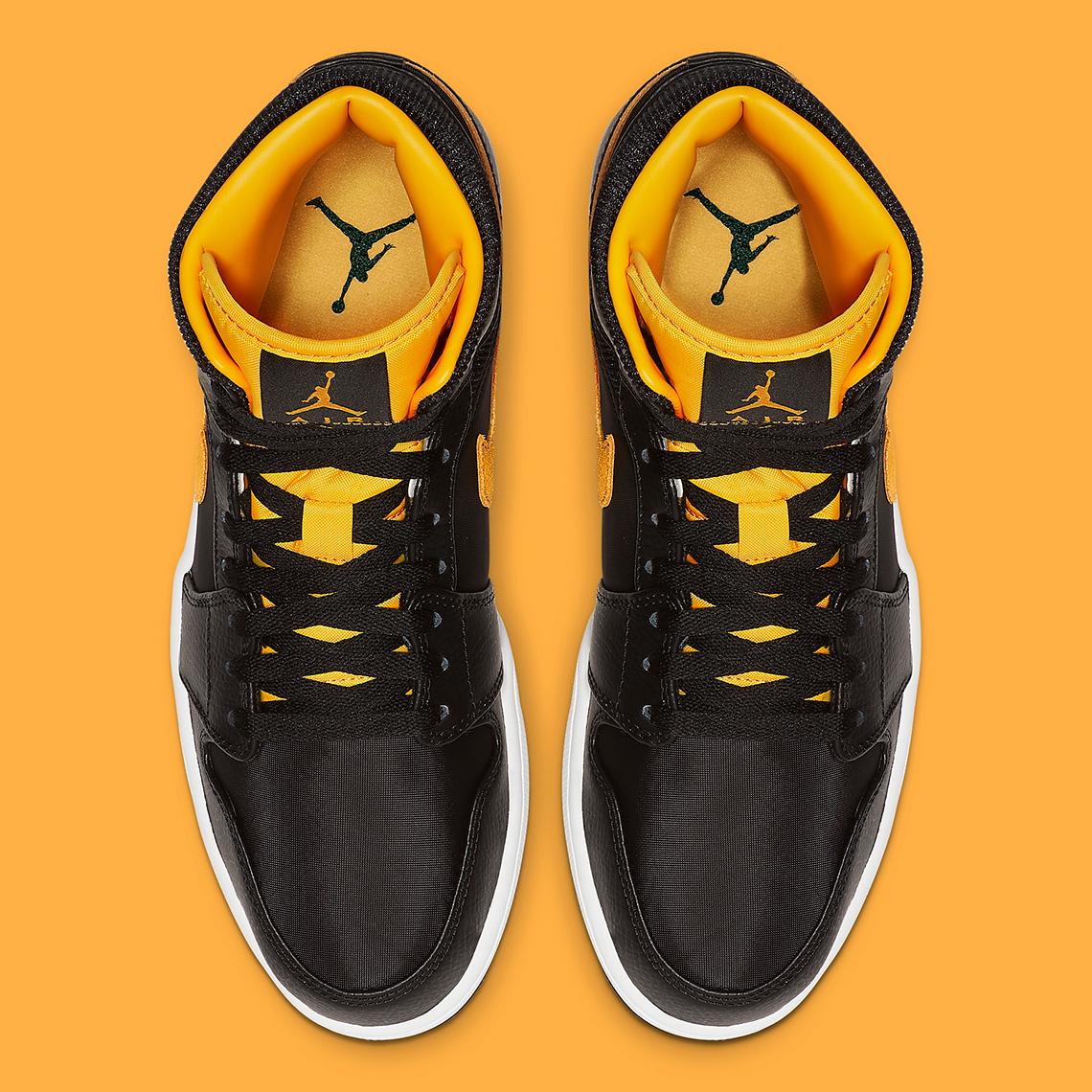 "Air Jordan 1 Mid ""Black & Gold"" Coming Soon: Official Photos"