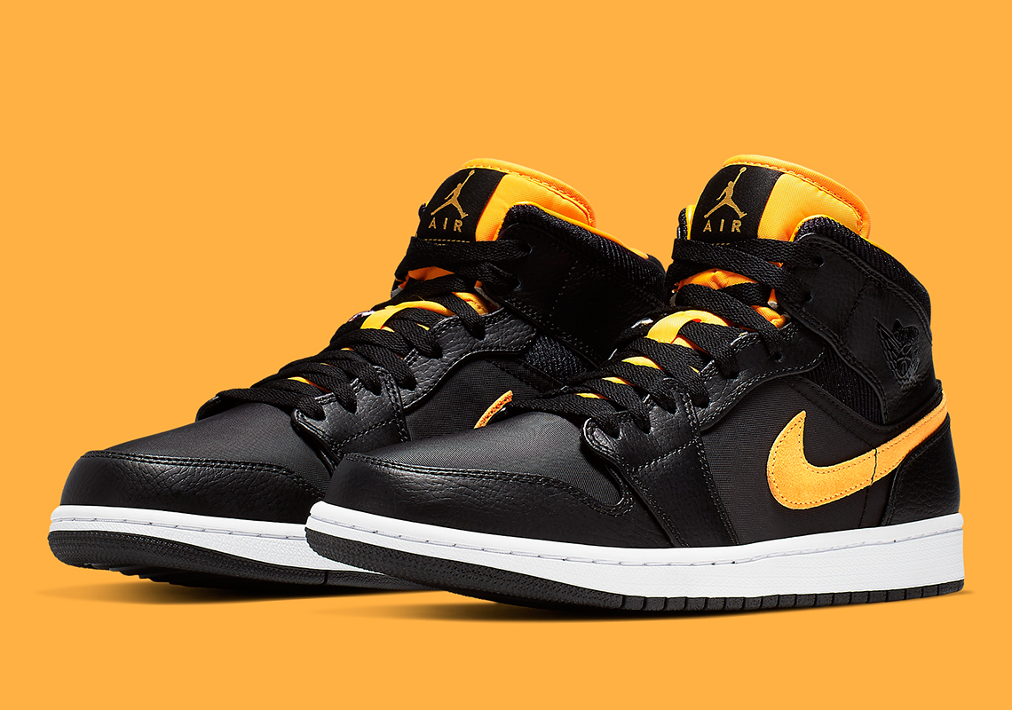 Jordan 1 Mid Black University Gold CI9352-001 Release Info