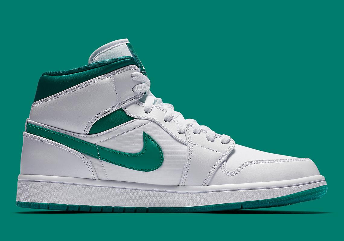 online store 3b0e8 0a8d7 Jordan 1 Mid Mystic Green CD6759-103 Release Info ...