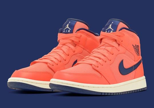 "Air Jordan 1 Mid ""Turf Orange"" Releases For Women"