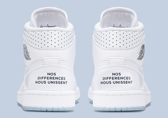 """The Air Jordan 1 Mid """"Nos Differences Nous Unissent"""" Spreads Message Of Unity"""