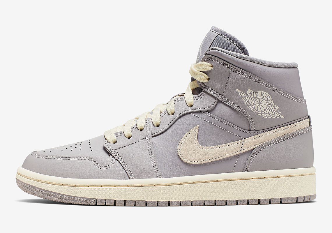"official photos cbbe5 a8cfb Air Jordan 1 Mid ""Light Bone"" Dropping Exclusively For Women"