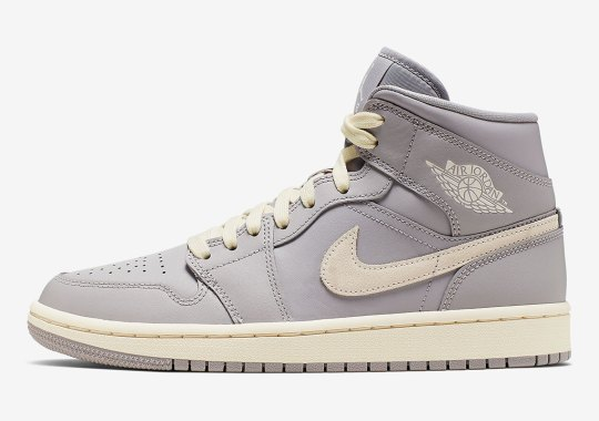 """official photos 0ed52 3fe98 Air Jordan 1 Mid """"Light Bone"""" Dropping Exclusively For Women"""