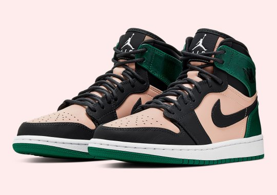 on sale 9310b 3e6b4 The Air Jordan 1 Retro High For Women Introduces Wrinkled Metallic Green  Uppers