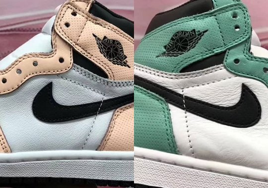 b222c19e1487 This Air Jordan 1 Retro High OG For Women Has Alternating Teal And Pink  Accents