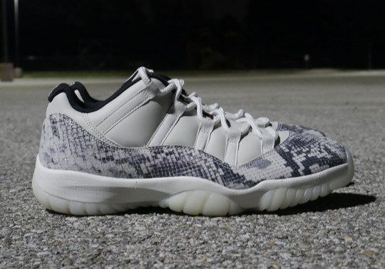 "Up Close With The Air Jordan 11 Low LE ""Snakeskin"""