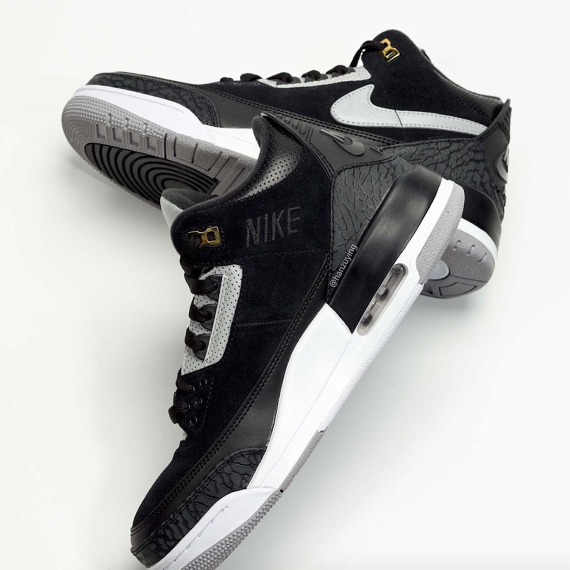 uk availability 34ddf 29b5f Air Jordan 3 Tinker Black Cement Grey Gold CK4348-007   SneakerNews.com