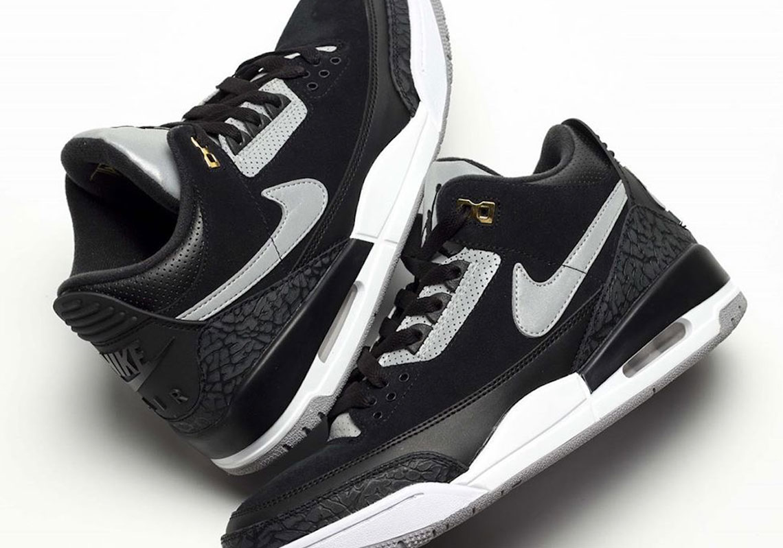 new arrival 837fc 7f8cc Air Jordan 3 Tinker Black Cement Grey Gold CK4348-007 ...