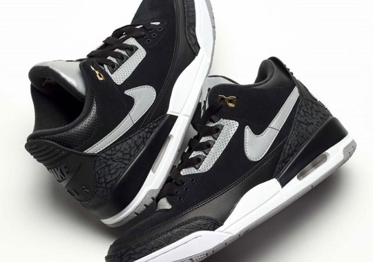"Detailed Look At The Air Jordan 3 Tinker ""Black Cement"""