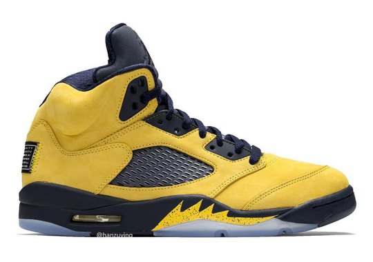 "Michigan-Inspired Air Jordan 5 Retro SP ""Inspire"" Releases On July 6th"