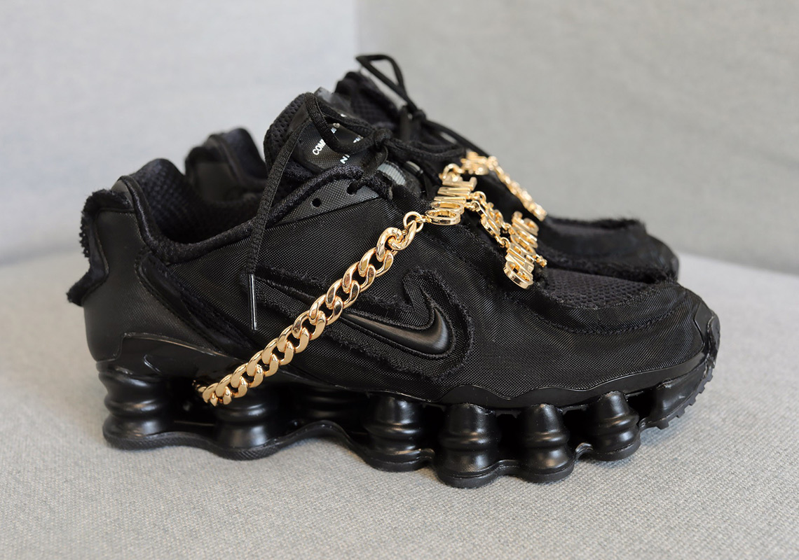 brand new 7defa 01f07 COMME des GARÇONS Nike Shox TL Black Release Date   SneakerNews.com