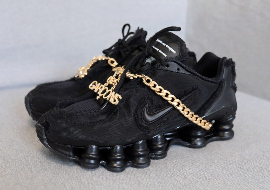 The COMME des GARÇONS x Nike Shox TL In Black Releases On June 13th