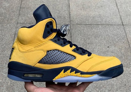 "Up Close With The Michigan-Inspired Air Jordan 5 ""Inspire"""