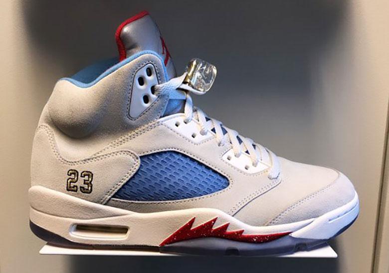 44d523c2c49 Trophy Room Air Jordan 5 Sail White PE | SneakerNews.com