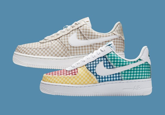 Summer Gingham Patterns Arrive On The Nike Air Force 1 Low