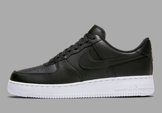Replenish Your Essentials With This Smooth Nike Air Force 1 Low In Black