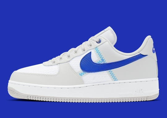 """The Nike Air Force 1 """"Taped Seam"""" Appears In Dodgers Colors"""