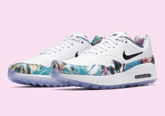 8e44a22c4b3 The Nike Air Max 1 Golf NRG Boasts A Tropical Floral Pattern For Women