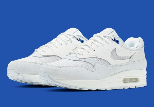 Nike Air Max 1 Premium In Pure Platinum And Racer Blue Is Available Now