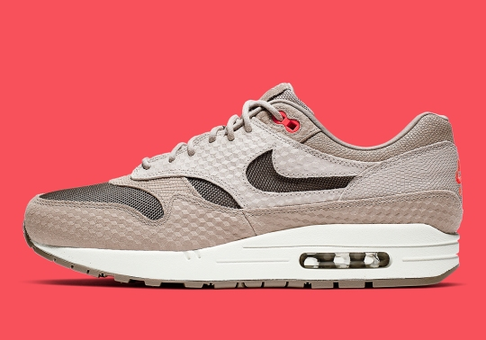 This Premium Take On The Nike Air Max 1 Features Cut-Out Swoosh Logos
