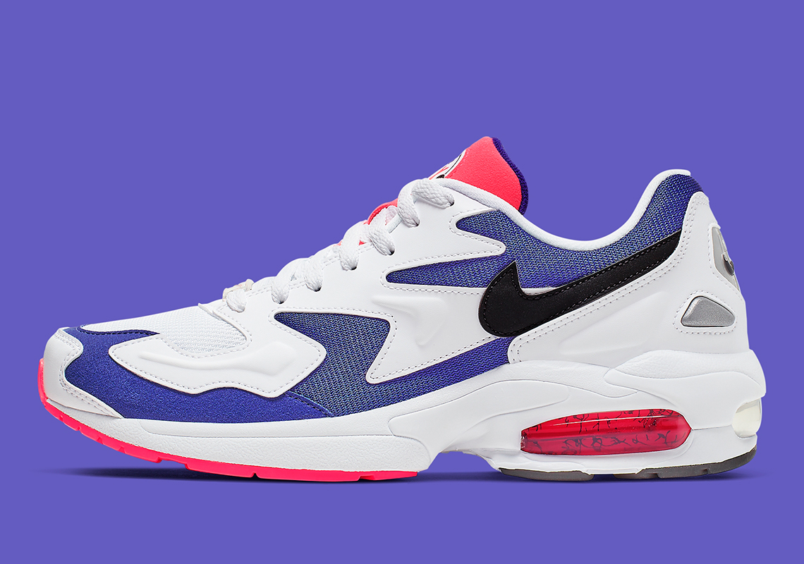 pretty nice a5a29 4315c The Nike Air Max 2 Light Appears In Purple And Crimson Hues