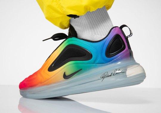 Nike Air Max 720 BE TRUE Honors Gilbert Baker's Rainbow Flag