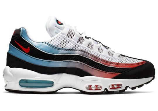 best sneakers 6f3e5 18bd6 The Nike Air Max 95 Arrives In A Blue Fury And Red Gradient