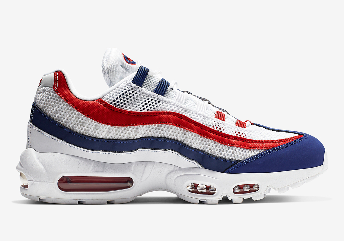b64326146 Nike Air Max 95 $160. Color: White/Gym Red-Deep Royal Blue Style Code:  CJ9926-100. Advertisement
