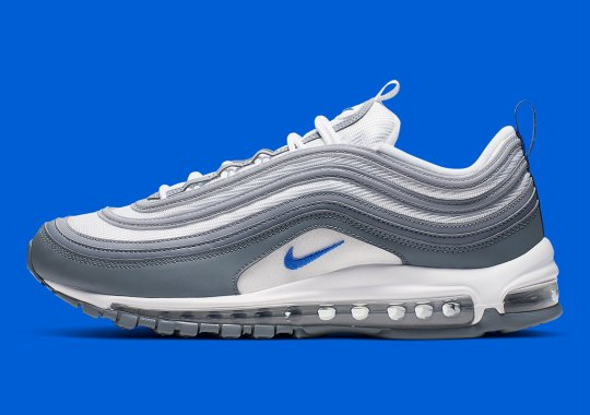 meet f705c 1d69a Nike Air Max 97 Appears In Hyper Royal And Cool Grey