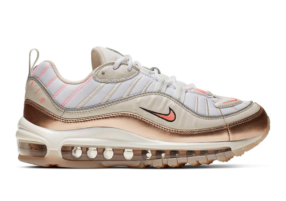 1ee483edcf99 Nike Air Max 98 Women s White Brown Pink Store List
