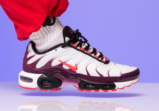 first rate 9d44b 5066c Nike Adds A Sultry Bordeaux To The Air Max Plus