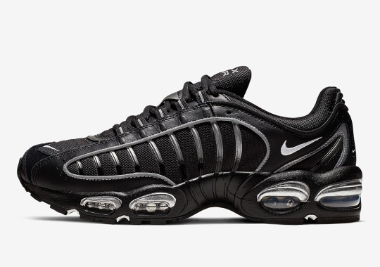 576240123 The Nike Air Max Tailwind IV Emerges In Black And Silver