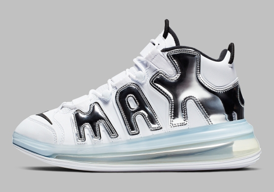 check out fd230 6d499 The Nike Air More Uptempo 720 QS Gets Chrome AIR