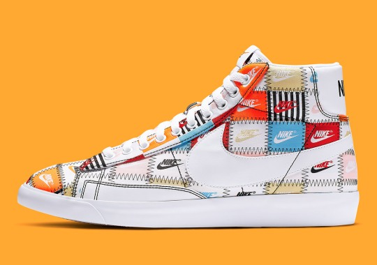 """The Nike Blazer """"Patchwork Pack"""" Is Available In High And Low"""