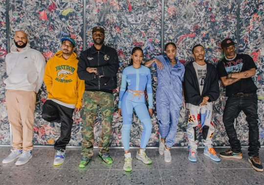 Travis Scott And Virgil Abloh Wear Upcoming Collaborations At NikeLab Chicago Re-Creation Center