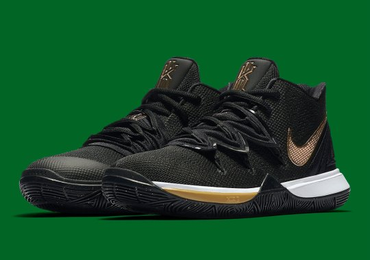 the latest 87128 37a62 The Nike Kyrie 5 Hits In Mid-June In Black And Gold