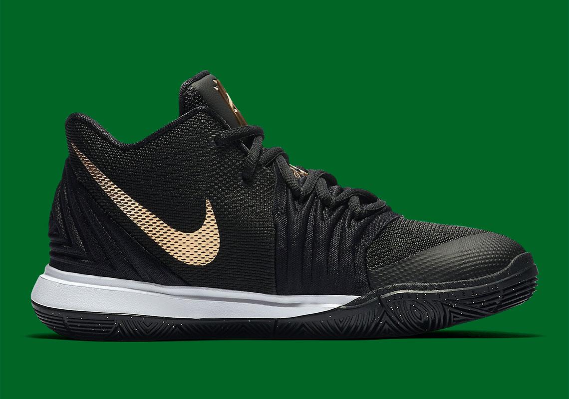 Nike Kyrie 5 Kids Black Gold AQ2456-007