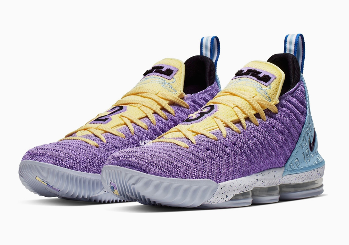 "8158136948c0 Upcoming Nike LeBron 16 ""Lakers"" Honors The Franchise s 16 Championships"