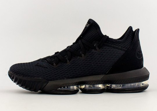 "The Nike LeBron 16 Low ""Triple Black"" Launches On May 13th"