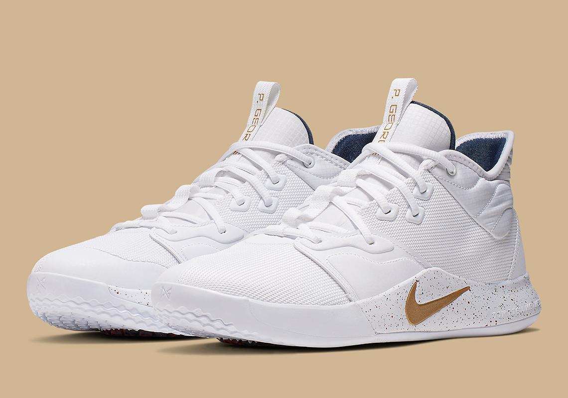 Nike PG 3 White Gold Navy AO2607-100 Release Date | SneakerNews.com