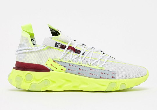 The Nike React WR ISPA Returns In Team Red And Volt