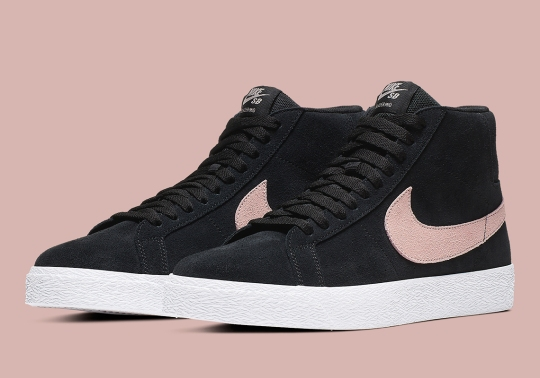 "Nike SB Continues The ""Washed Coral"" Trend With The Blazer Mid"