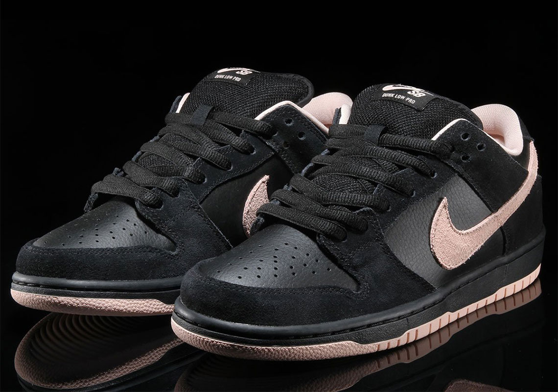 best service 70439 010a8 Nike SB Dunk Low Black Washed Coral BQ6817-003 | SneakerNews.com