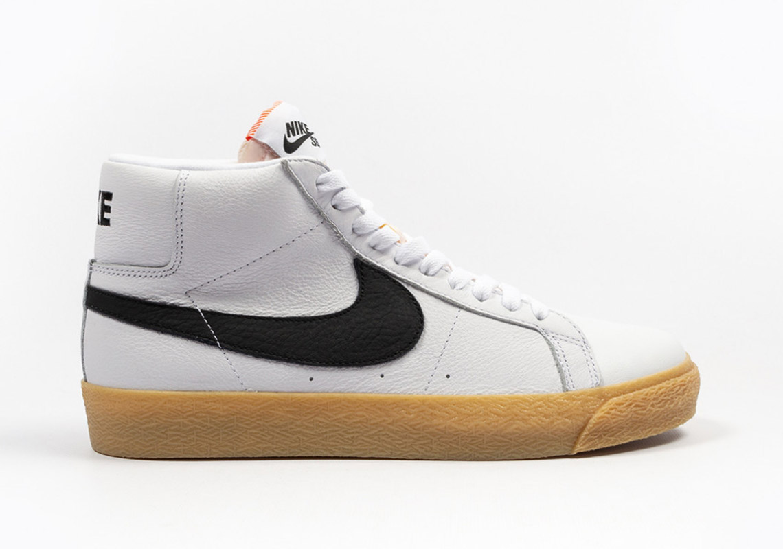 low priced 3e5d8 bd7f9 Nike SB Orange Label Blazer Mid CD2569 100 Release Info ...