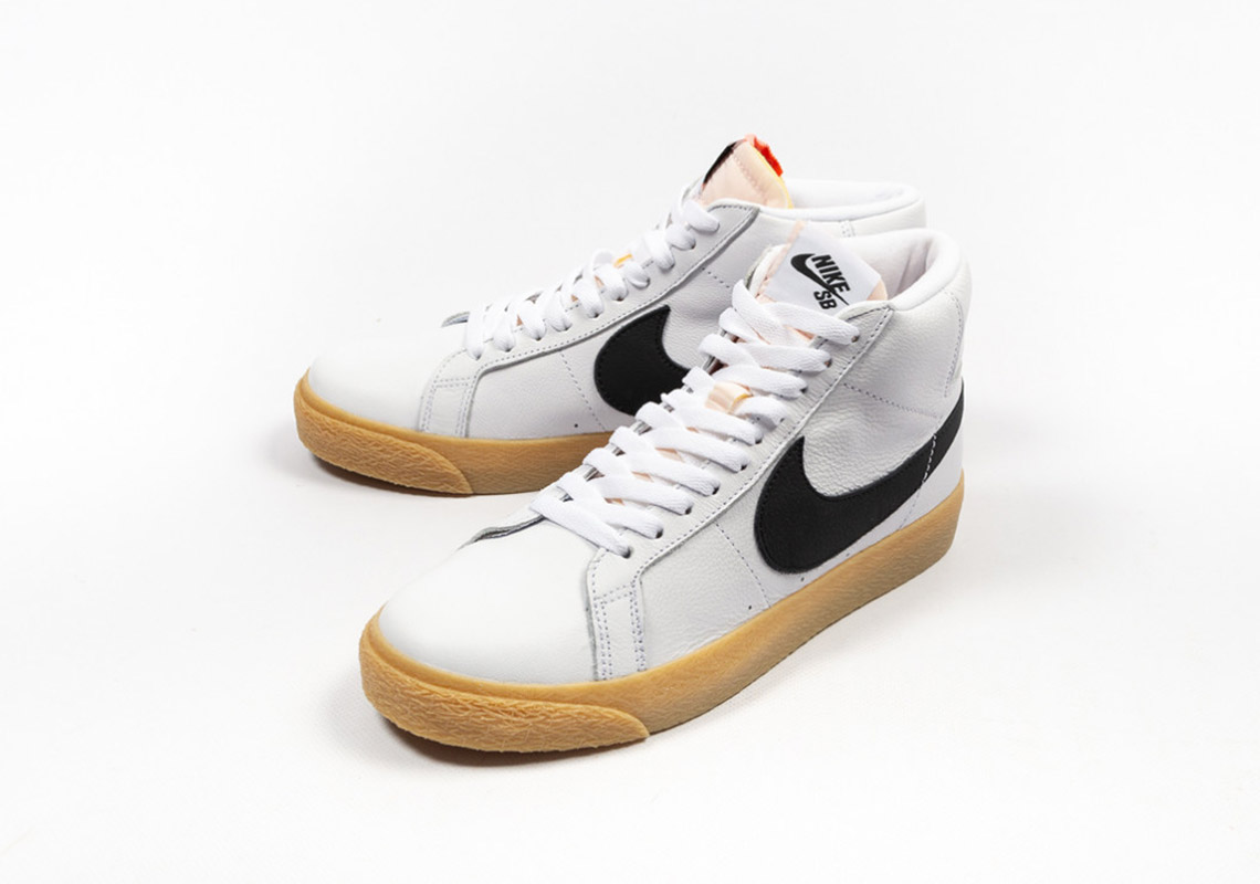 00d6d3e74292d Nike SB Orange Label Blazer Mid CD2569 100 Release Info ...