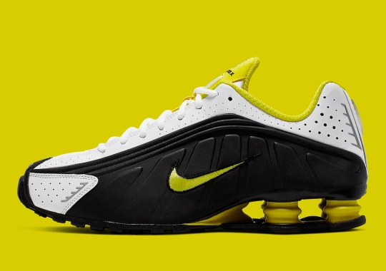 new concept 386b3 b079d The Nike Shox R4 Emerges In A Striking Yellow And Black