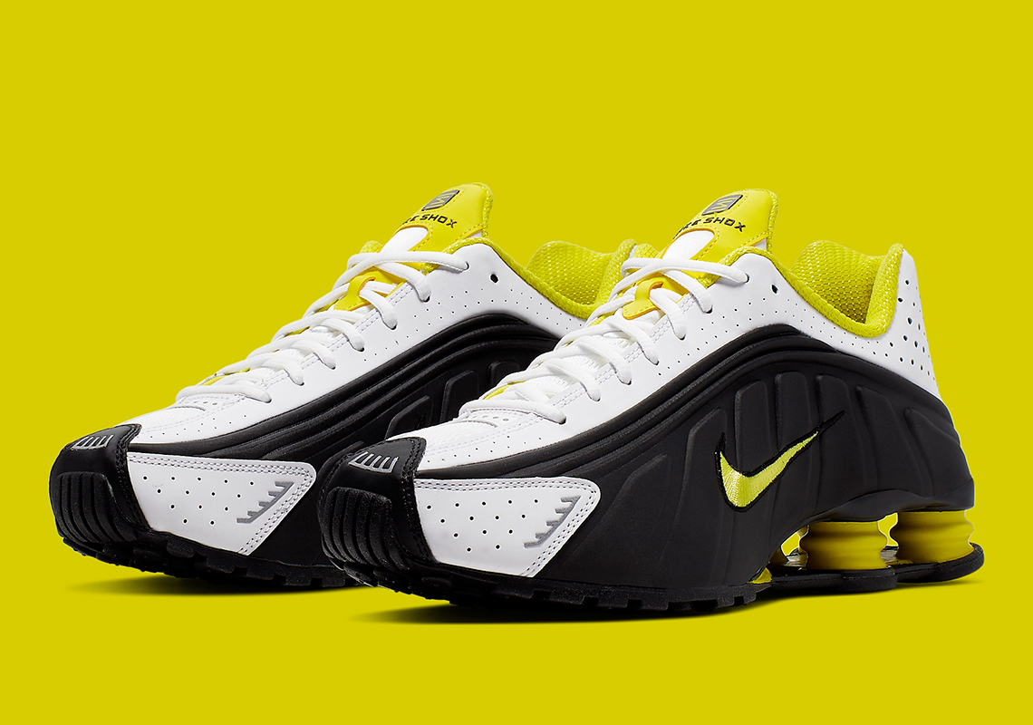 sale online closer at cheap price Nike Shox R4 Black Yellow 104265-048 Release Information